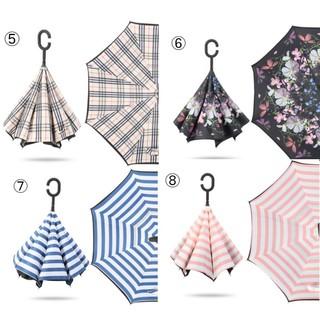 長傘 逆さ傘 逆折り式 耐風  撥水 UVカット 自立 (傘)