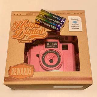 トウシバ(東芝)の【希少】HOLGA DIGITAL ホルガデジタル ピンク トイカメラ(コンパクトデジタルカメラ)