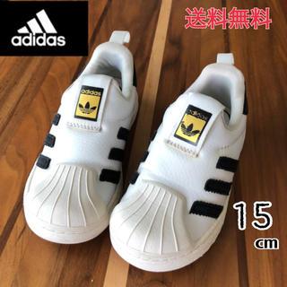 adidas - adidasアディダスsuperstar スリッポン15㎝WHITE×BLACK