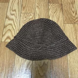 ムジルシリョウヒン(MUJI (無印良品))の美品⭐︎麦わら帽子 ストローハット 茶色(帽子)