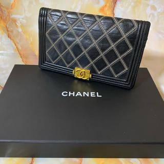 シャネル(CHANEL)のレア! CHANEL シャネル ボーイシャネル カーフスキン 長財布 美品です(財布)