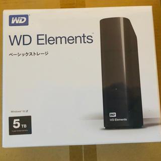 新品・未開封 Western Digital 5TB 外付けHDD(テレビ)
