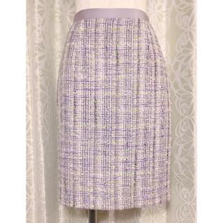 ジャスグリッティー(JUSGLITTY)のジャスグリッティー 淡パープルツイードスカート(ひざ丈スカート)