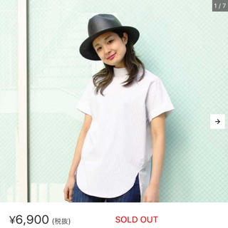 オズモーシス(OSMOSIS)のOsmosis ストライプネックシャツ(シャツ/ブラウス(半袖/袖なし))