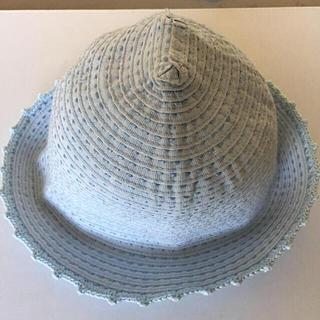【GREVI 】グレヴィ 帽子 イタリア製 水色 リボンハット 女の子(帽子)