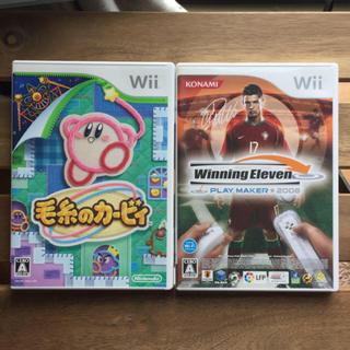 ウィー(Wii)のwii  ウイニングイレブン&カービィ セット(家庭用ゲームソフト)