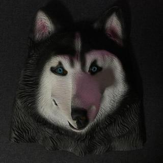 犬 お面 かぶりもの ハスキー犬(小道具)
