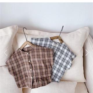 petit main - 韓国子供服 チェックシャツ