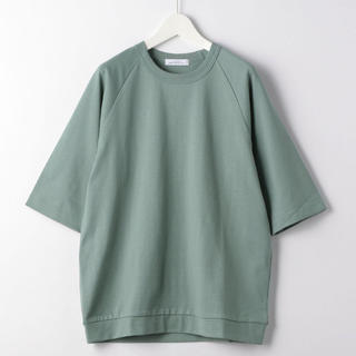 グリーンレーベルリラクシング(green label relaxing)のSC トルファン オーガニック クルーネック 5分袖 Tシャツ カットソー(Tシャツ/カットソー(半袖/袖なし))