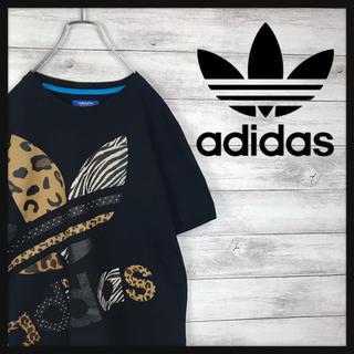 アディダス(adidas)のadidas アディダス Tシャツ トレフォイル アニマル柄 おしゃれ(Tシャツ/カットソー(半袖/袖なし))