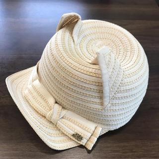 アナスイミニ(ANNA SUI mini)の人気美品‼︎ANNA sui miniねこ耳麦わら風キャップ(帽子)