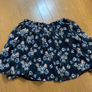 ジーユー(GU)のGU 花柄スカート L(ミニスカート)