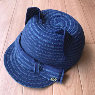 アナスイミニ(ANNA SUI mini)の美品‼︎ANNA sui mini❤︎ネコ耳キャップネイビー(帽子)