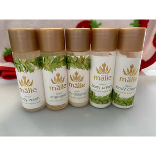 マリエオーガニクス(Malie Organics)のマリエオーガニクス 5点セット アメニティ ハワイ オーガニック ココナッツ 香(サンプル/トライアルキット)