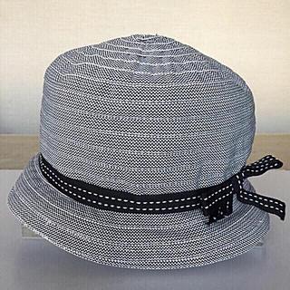 【B MILLINER AND M 】帽子 イタリア製 リボンハット(帽子)