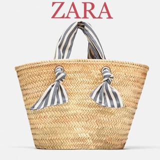 ザラ(ZARA)の新品 ZARA ザラ カゴバッグ かご ストロートート /プラステ PLST(かごバッグ/ストローバッグ)
