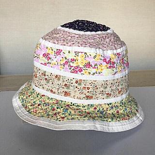 【GREVI 】グレヴィ 帽子 イタリア製 花柄 リボンハット(帽子)