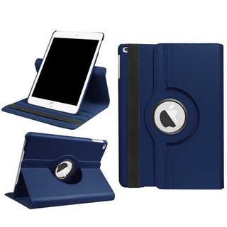 ネイビー 新型 iPad5 シンプル タブレットケース 手帳型 カバー(タブレット)