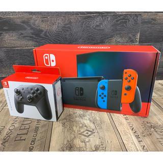 ニンテンドースイッチ(Nintendo Switch)のニンテンドースイッチ本体+Proコントローラーセット(家庭用ゲーム機本体)