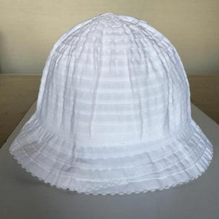 【未使用】GREVI グレヴィ 帽子 イタリア製 白 56 リボンハット(帽子)