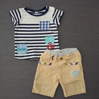 キムラタン(キムラタン)のラキエーベ 半袖半ズボンセット90(Tシャツ/カットソー)