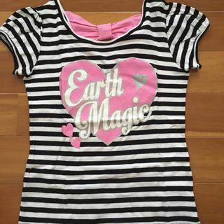 EARTHMAGIC - アースマジック バッグリボンが可愛い ボーダー Tシャツ 美品