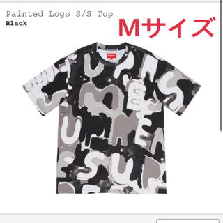 Supreme - supreme painted logo s/s top ブラックMサイズ