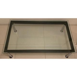 ル コルビジェ風 ガラステーブル 机(ローテーブル)