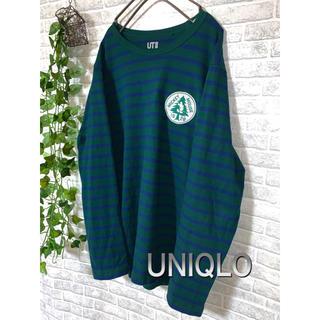 ユニクロ(UNIQLO)の【古着】ディズニーコラボ 刺繍ロングTシャツ XL(Tシャツ/カットソー(七分/長袖))