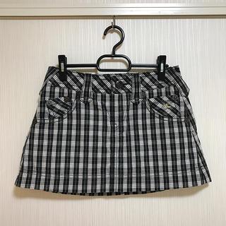 バーバリー(BURBERRY)の超美品 BURBERRY LONDON    スカート チェック ブラック M(ミニスカート)