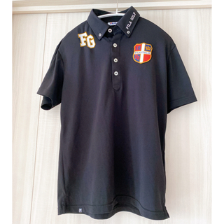 FILA - フィラゴルフ ブラック ポロシャツ メンズ M 美品