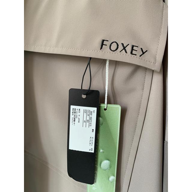 FOXEY(フォクシー)の[新品未使用タグ付き] FOXEY レイニーフードコート 40  レディースのジャケット/アウター(ロングコート)の商品写真