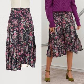 イザベルマラン(Isabel Marant)の美品イザベルマラン コレクション総柄プリーツスカート(ロングスカート)
