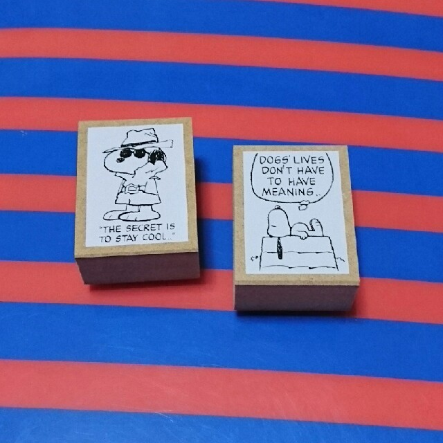 SNOOPY(スヌーピー)の【未使用】①スヌーピー名言スタンプ  2個 エンタメ/ホビーのおもちゃ/ぬいぐるみ(キャラクターグッズ)の商品写真