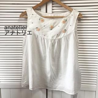 anatelier - 未使用タグ付anatelier/アナトリエの袖なしブラウス★サイズM12000円