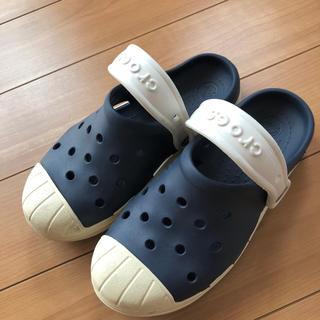 クロックス(crocs)のネイビーのクロックス キッズ サンダル 20cm(サンダル)