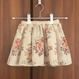ハンドメイド ギャザースカート 80サイズ(スカート)