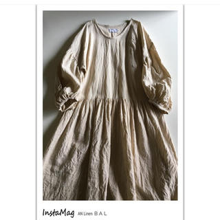 nest Robe - An Linen バルーン袖ワンピース
