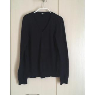 ユニクロ(UNIQLO)のユニクロ カシミヤ混紡 Vネックセーター ネイビー Sサイズ(ニット/セーター)