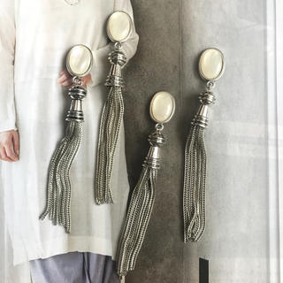 Ameri VINTAGE - antique silver tassel ピアス or イヤリング