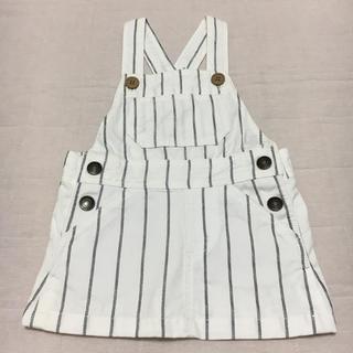 ニシマツヤ(西松屋)のストライプ ジャンパースカート(スカート)