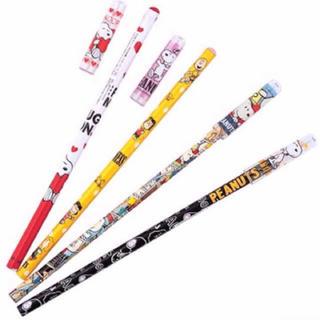 スヌーピー(SNOOPY)の送料込 スヌーピー鉛筆キャップ付 4本セット(鉛筆)