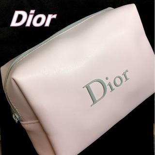 Dior - Dior ソフトレザー風 ライトピンク × ライトグレー コスメポーチ
