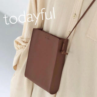 TODAYFUL - todayful レザースクエアポシェット 新品