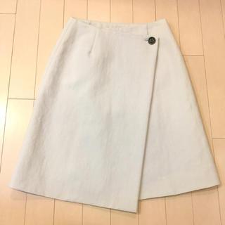イエナ(IENA)のイエナ☆リネン混ラップスカート(ひざ丈スカート)