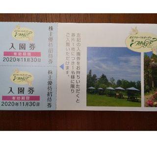 京王フローラルガーデンANGE 入園券 2枚(その他)