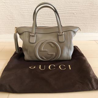 Gucci - 美品*グッチ*バッグ*グレー