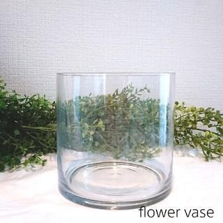 アクタス(ACTUS)のフラワーベース (花瓶)ガラス アンティーク風円柱  花器(花瓶)