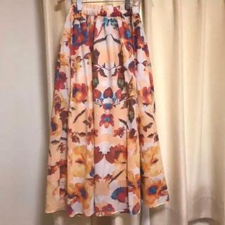 ViS - vis 花柄 ロングスカート