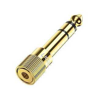 ゴールド1個UGREEN ステレオミニプラグ(メス)ステレオ標準プラグ(オス) (マイク)
